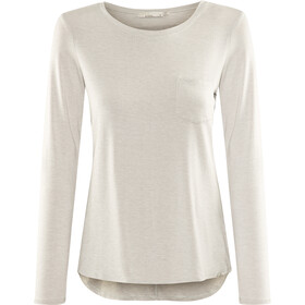 Prana Foundation Longsleeve Crew Dames, light grey heather